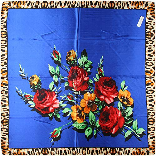 Buy leopard silk square scarf