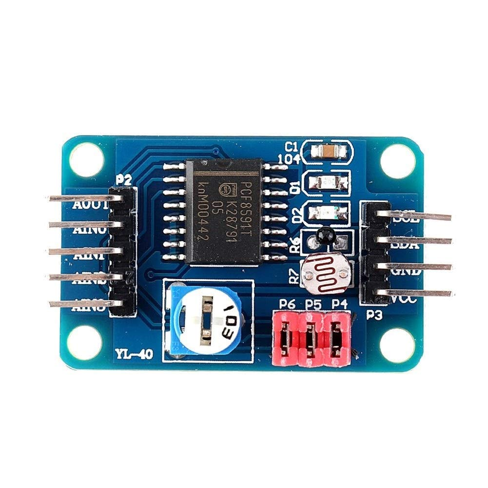 Hjhjghj PCF8591 AD//DA-Wandlermodul Analog-Digital-Analog-Wandlung Passend for Arduino Connectors