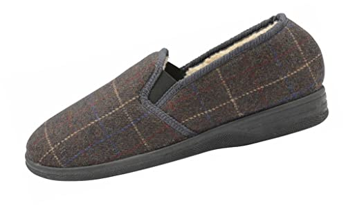 Zapatillas de casa, tipo mocasines, de hombre, New Hampshire, talla 40 a 46, color Azul, talla 41.5