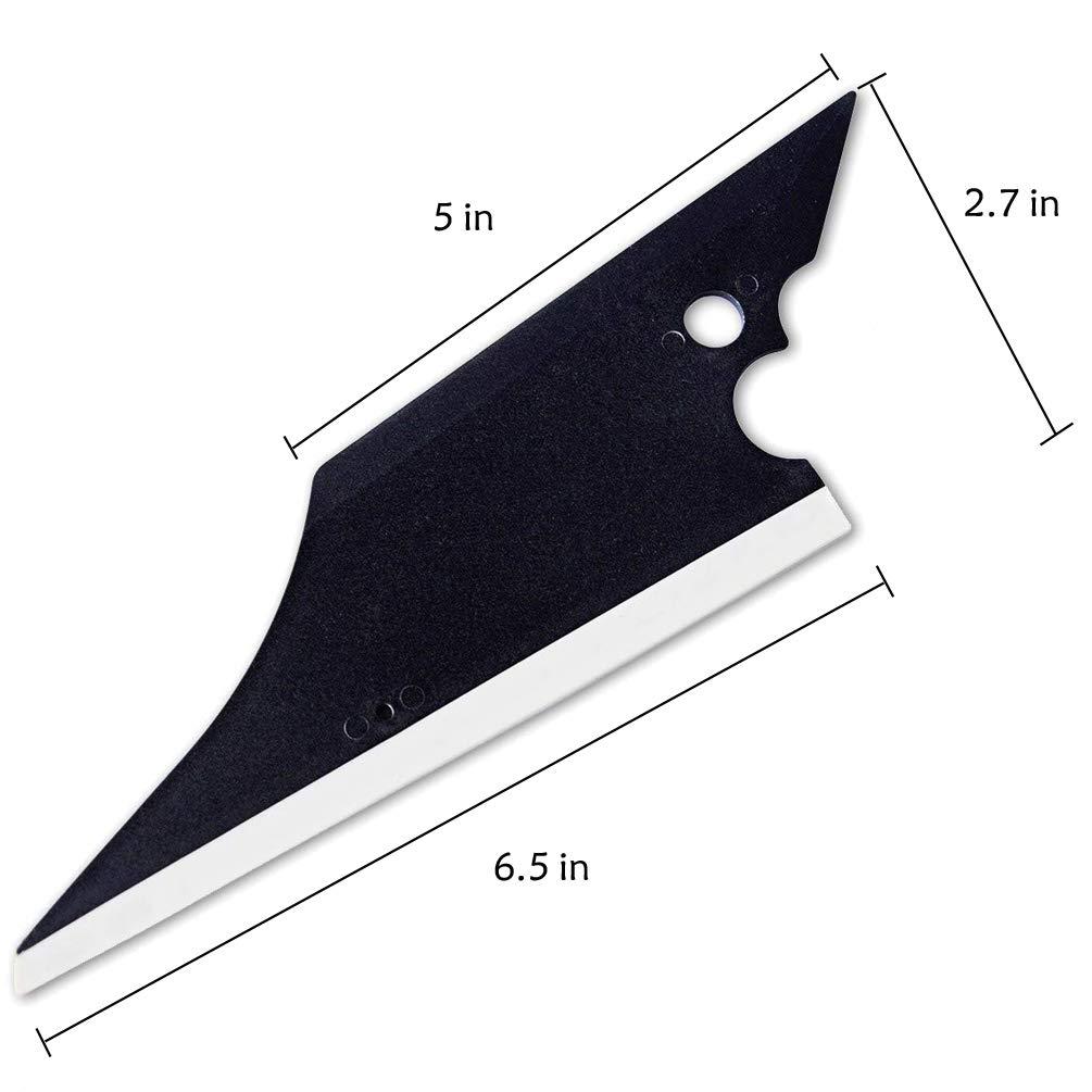 Kaiying di Strumenti per linstallazione di pellicole oscuranti per vetri per lauto con Il Set di Pistola di Calore Squeegee Kit