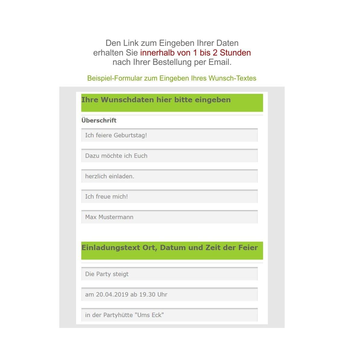 Unser-Festtag Moderne Einladungen zum Geburtstag Geburtstag Geburtstag mit Spruch - coole, lustige und witzige Karten - mit Wunschtext - 40 Karten - 17 x 12 cm B07D282YWM | Export  | Üppiges Design  | Speichern  2301cc