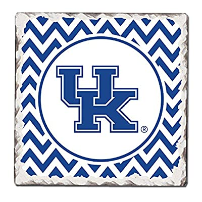 CounterArt Set of 4 Absorbent Tumbled Tile Coasters, University of Kentucky