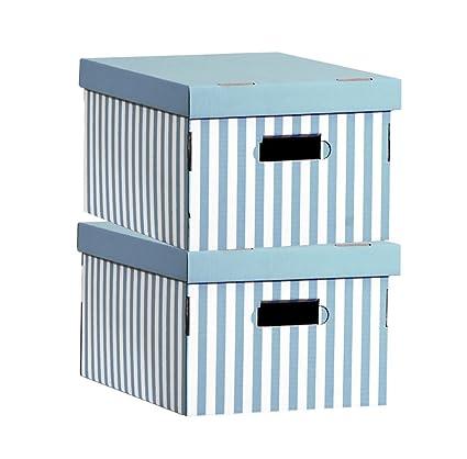 Rangement & Cie Compactor RAN3311 - Set de 2 cajas de carton con tapa