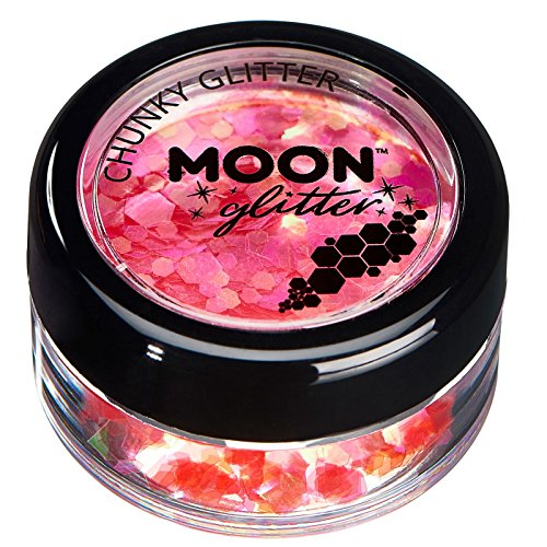 Moon Glitter Iridescent Chunky Glitter, Cherry, Single, - Cherry Chunky