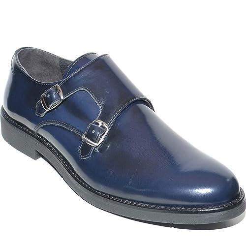 Fondo Doppia In Malu Con Shoes Fibbia Vera Blu Light Pelle dxoCBe