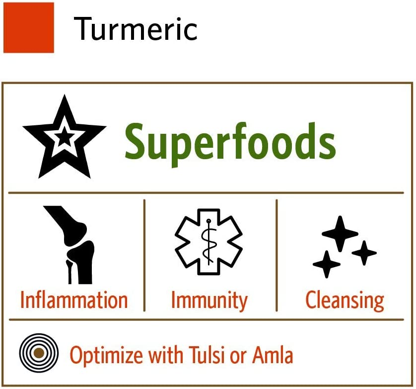 Organic India Turmeric Herbal Supplement - Joint Mobility & Support, Immune System Support, Healthy Inflammatory Response, Whole Root Supplement, USDA Certified Organic, Non-GMO - 90 Capsules: Health & Personal Care