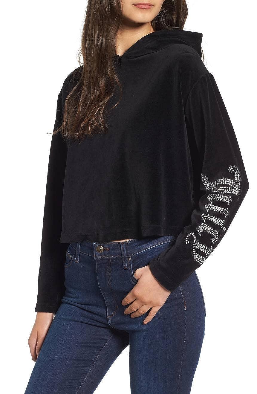 13e1f0f2e9ba Amazon.com  Juicy Couture Gothic Logo Velour Hoodie Regal Navy  Clothing