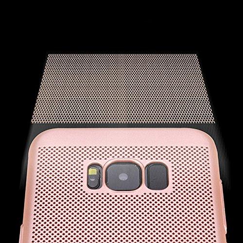 para Galaxy S8 Plus Respirable Funda de Malla de Aire, Vandot Ultra Slim Disipación de Calor Funda Duro PC Cáscara Back Case Cover Hard Shell Resistente a los Arañazos a Prueba de Golpes Diseño Heat D SRK 04