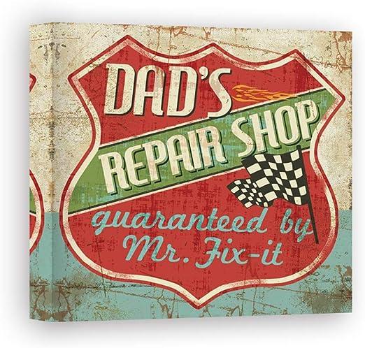 Impresión sobre Lienzo Wall Art Pela Studio Mancace IV - Dads Repair Shop: Amazon.es: Hogar