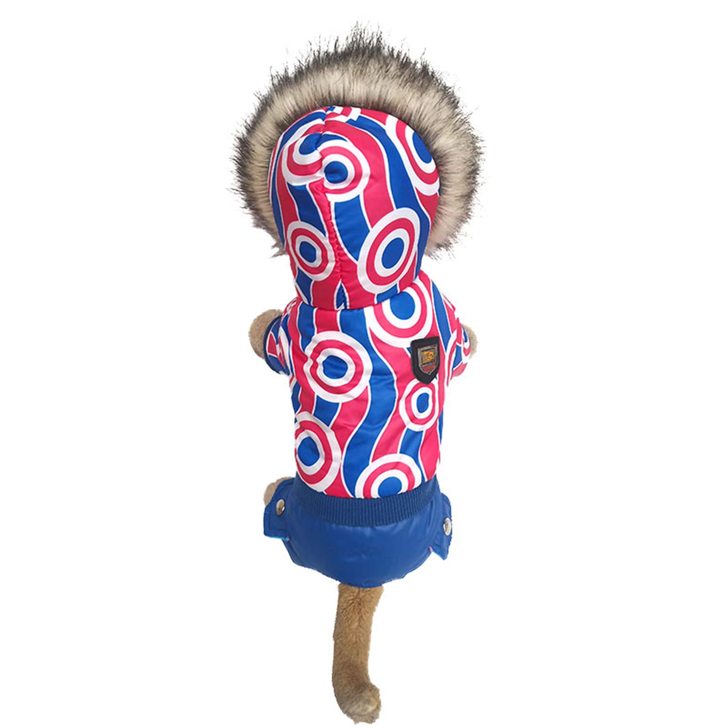 Dog Clothes Warm Down Jacket Warm Jacket Magic Four-Legged Coat Autumn and Winter Puppy Cats Suitable for Small and Medium Dogs