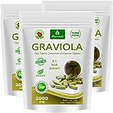 Graviola tabletas 360 x 2000mg extracto de fruta 4:1 vegano, producto de calidad de MoriVeda (3x120 Tabs)