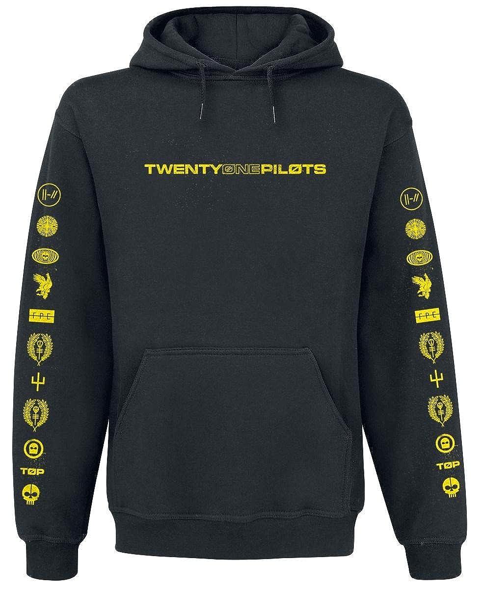 Twenty One Pilots Logo Heavy Hooded Sweatshirt Black