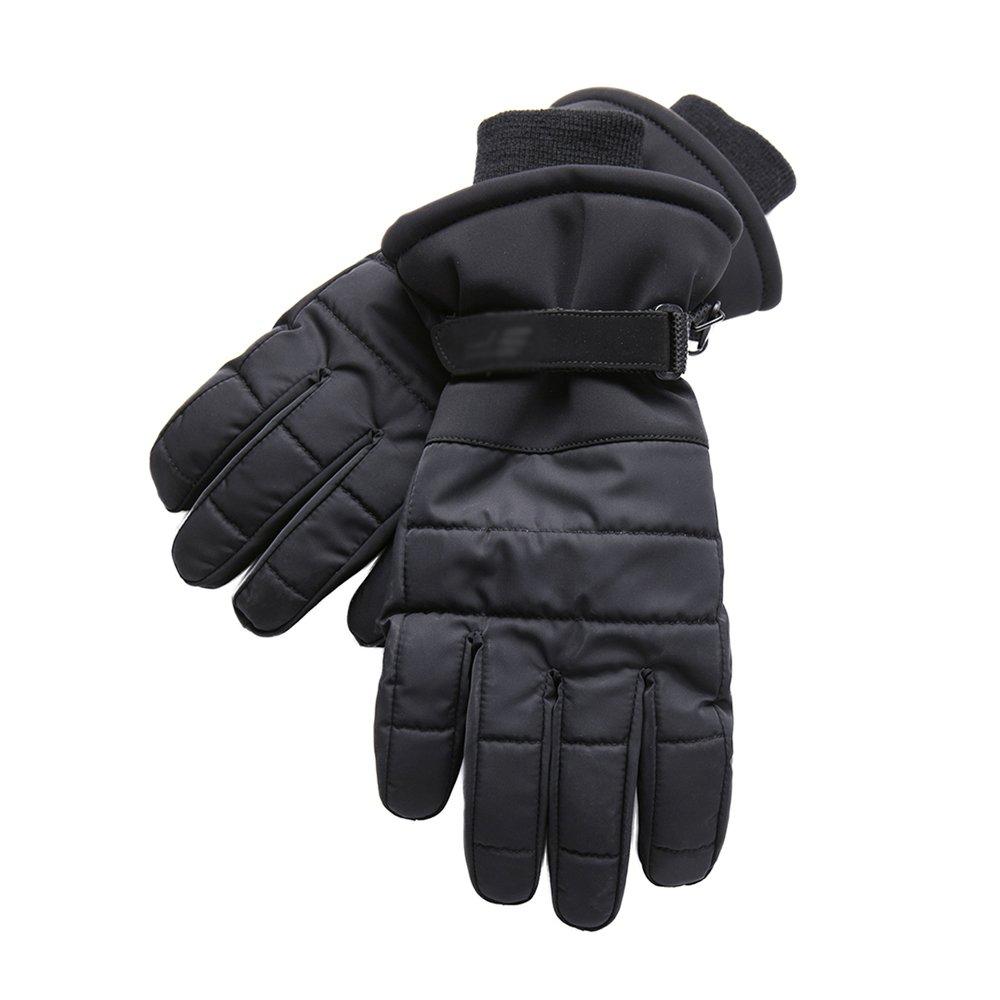 Warmhouse Winter Winter Herren Sport Slip Handschuhe, Schwarz Lange Stricken Handgelenk