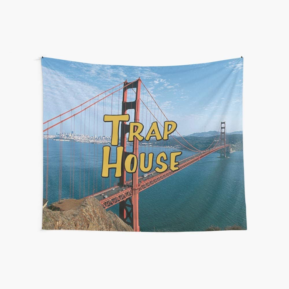 CuYatry Full House Trap House Boutique Tapestry Wall Hanging Tapestry Vintage Tapestry Wall Tapestry Micro Fiber Peach Home Decor 59.1X51.2 in