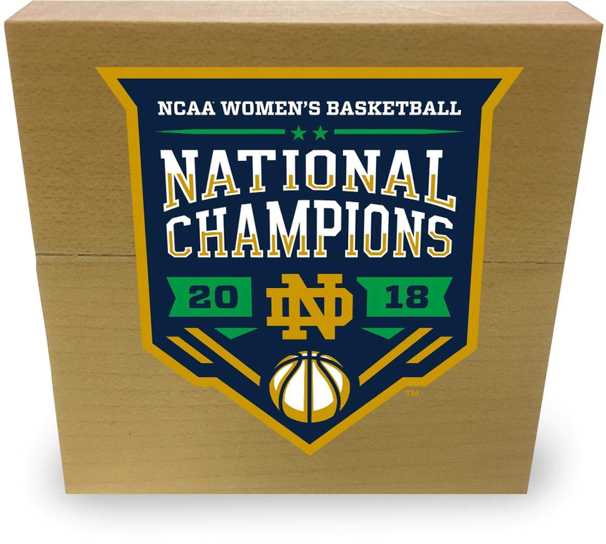 Notre Dame Fighting Irish 2018 NCAA Women's Basketball National Champions 3' x 3' Game-Used Court from the 2018 Final Four - with Championship Logo Sticker - Fanatics Authentic Certified