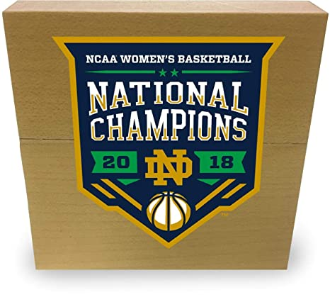 Notre Dame Fighting Irish 2018 NCAA Women s Basketball National Champions  3 quot  x 3 quot  Game 60de9af43
