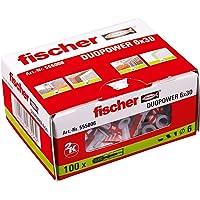 fischer 555006 DUOPOWER 6 x 30 - universele pluggen voor het bevestigen van hangkasten, wandplanken in beton, metselwerk…