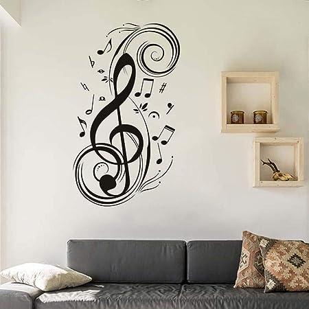 yuandp Extraíble Etiqueta de La Pared DIY Nota Musical Tatuajes de ...