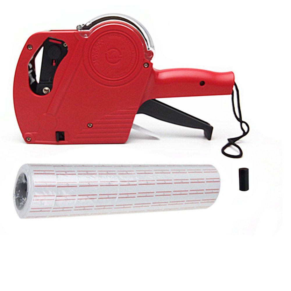 MX5500 Red 8 Digits Pricing Gun Kit with Labels & Spare Ink