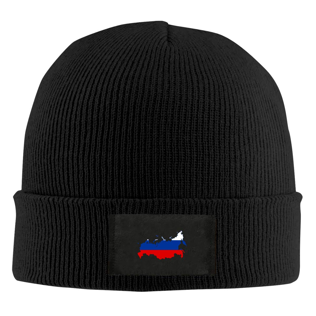 LRHUI Russia Flag Map Winter Knitted Hat Warm Wool Skull Beanie Cap