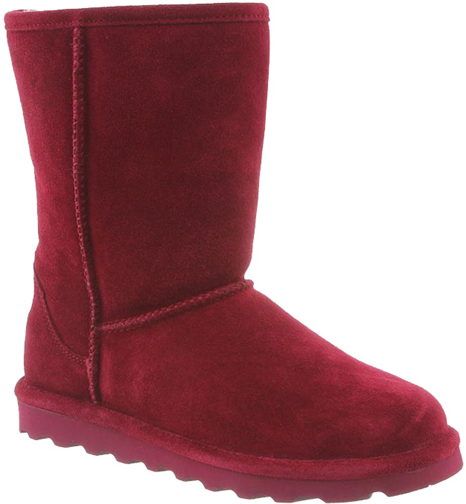 BEARPAW Womens Elle Closed Toe Mid-Calf Cold Weather Boots, Bordeaux, Size 6.0