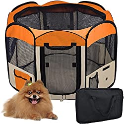 "Yescom 48"" Large 2-Door Waterproof 600D Oxford Cloth Pet Playpen Dog Puppy Tent Exercise Kennel"