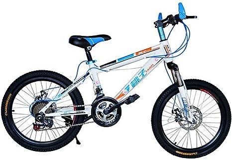 MASLEID Bicicleta de montaña de 20 Pulgadas para niños y niñas, White: Amazon.es: Deportes y aire libre