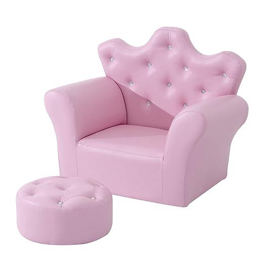 HOMCOM Set de sillón Infantil con reposapiés, Piel sintética ...