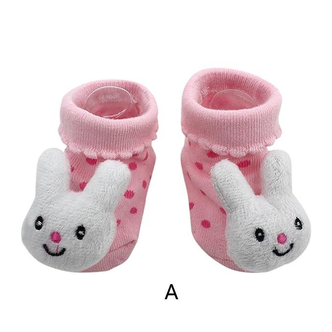 Calcetines Antideslizantes para BebéS Flores Lindas Dibujos Animados Bebé ReciéN Nacido NiñOs Antideslizantes Calcetines Zapatillas Zapatos Botas: ...