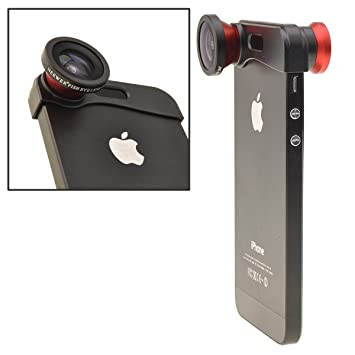 Amazon.com : NEEWER Red 180° Fish Eye Lens+Wide Angle Lens+Macro ...