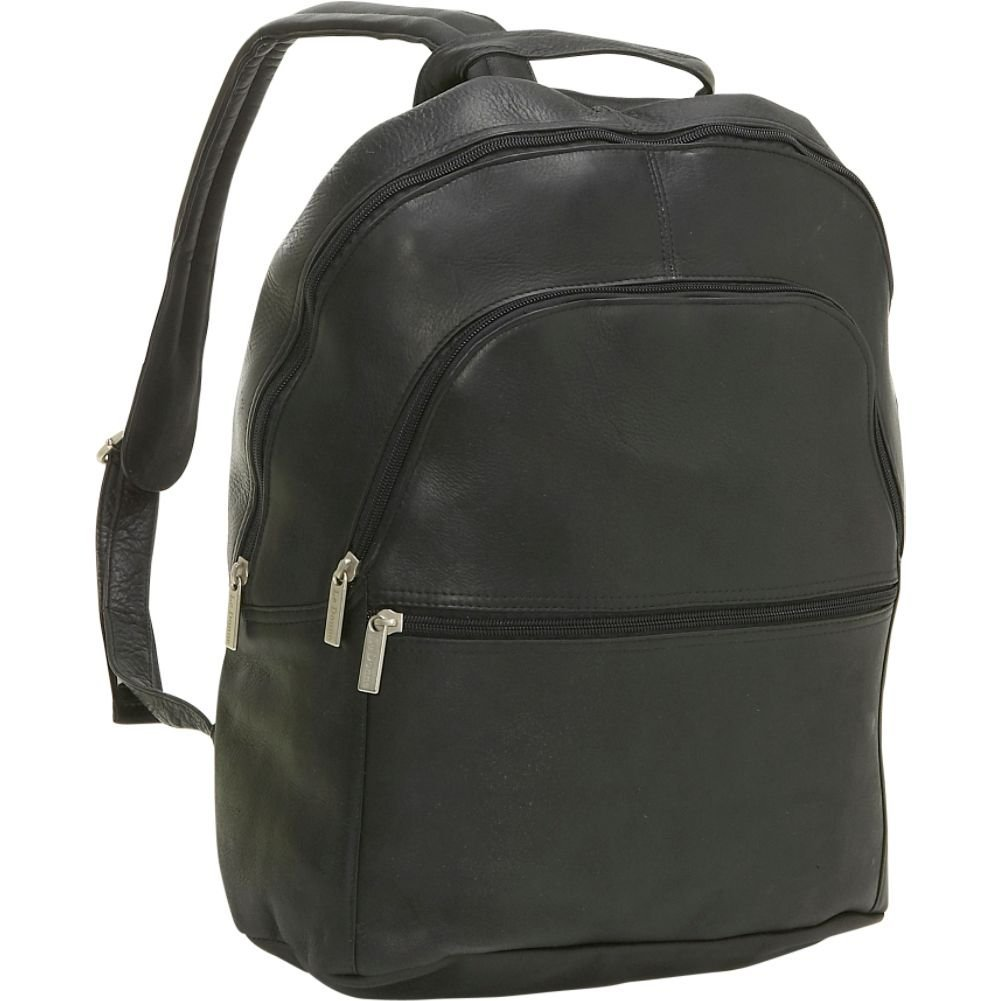 LeDonne LD-4011-BLACK Leather Computer Backpack by LeDonne