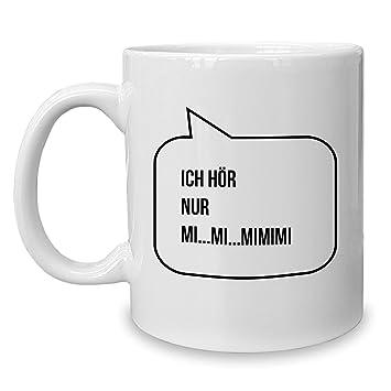 Shirtdepartment Kaffeebecher Tasse Lustige Spruche Mimimi
