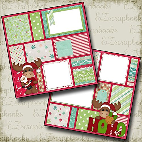 (Christmas Moose - Premade Scrapbook Pages - EZ Layout 330)