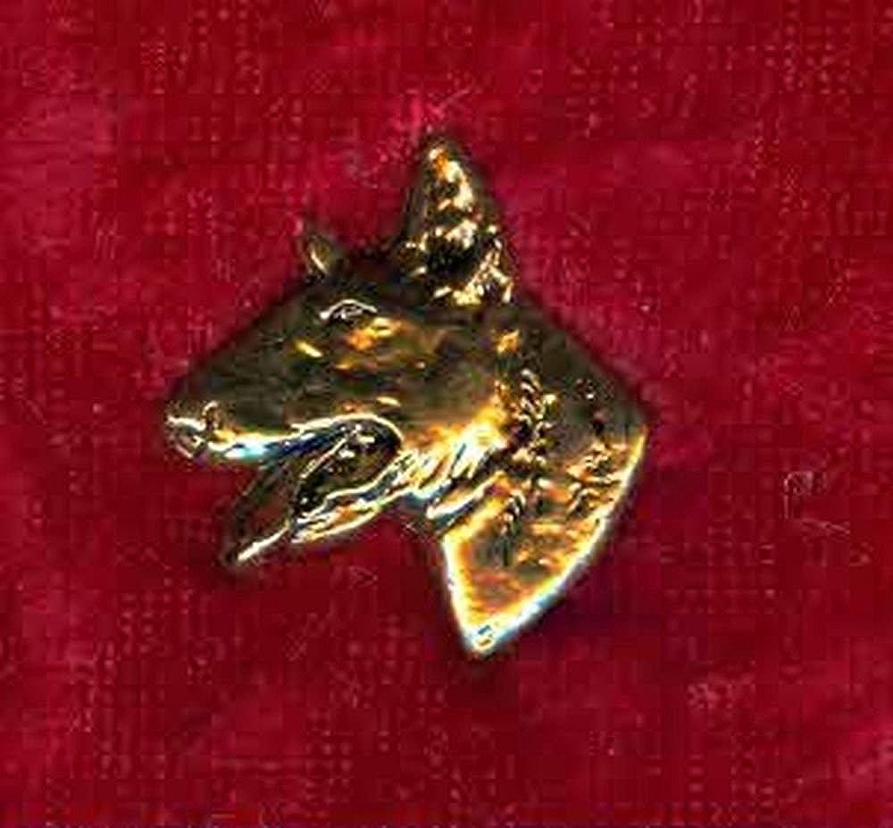 Pin// Anstecker vergoldet Hunde Bullterrier p020