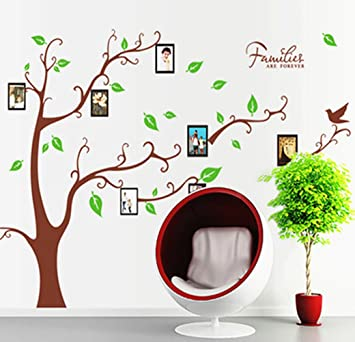 Amazoncom Huge Family Tree Wall Decal Waterproof Family Picture