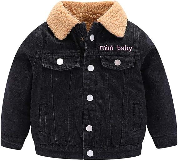 Mud Kingdom Little Boys Fur Lined Denim Jacket with Hood Skull Pattern