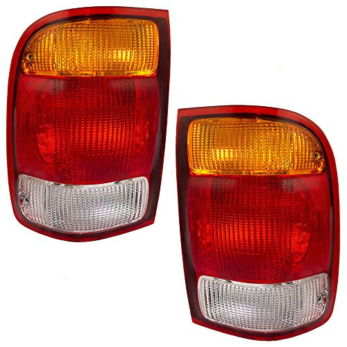 Driver and Passenger Taillights Tail Lamps Replacement for Ford Pickup Truck F87Z13405BA - Tail Lamp New Ford Ranger