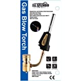 All Splendid Gas Blow Trigger Torch Head-Rugged Brass-Stainless Steel Construction-Adjustable Swirl Flame