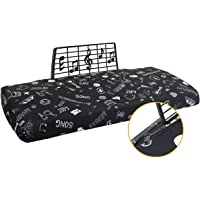 Explore Land Stretchy 61/88 Keys Piano Keyboard Dust Cover with Music Stand Opening for Digital Electronic Piano (61…
