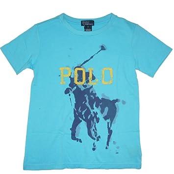 Ralph Lauren Niños Camiseta de Big Pony Polo Jinete Art Print turquesa turquesa Talla:98: Amazon.es: Bebé