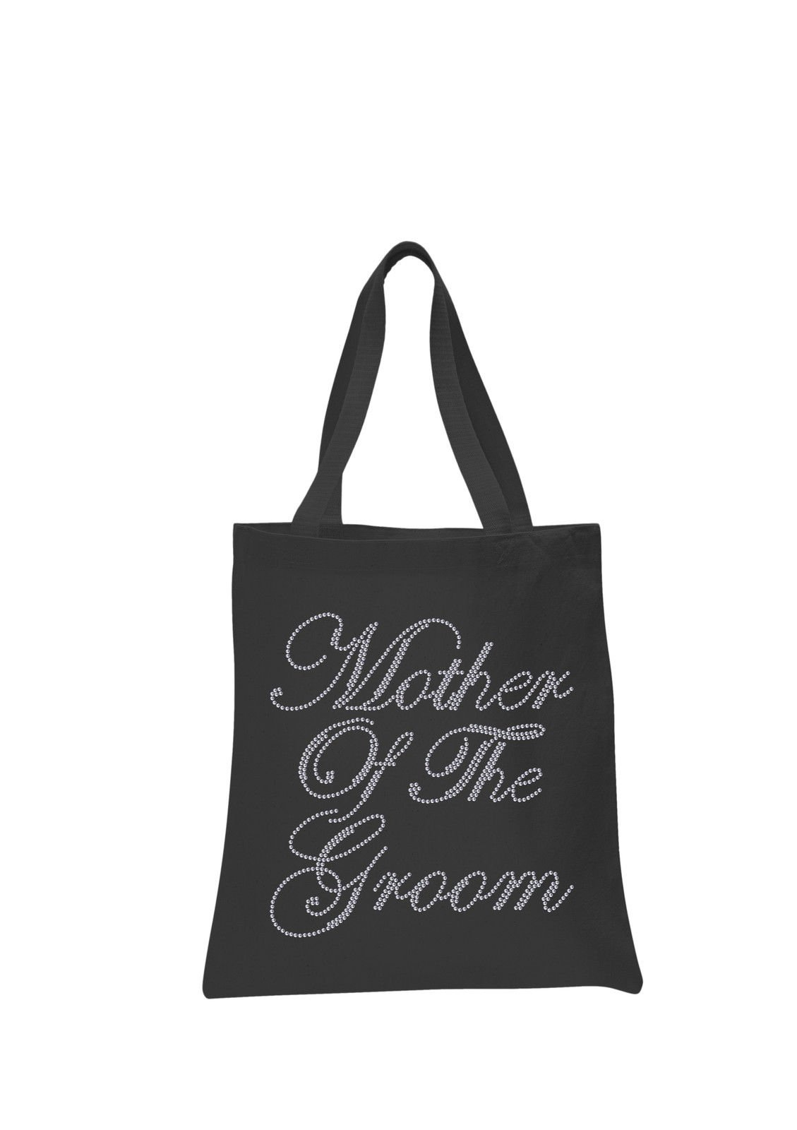 Black Mother Of The Groom Crystal Wedding Favour Tote Bags personalised bridal hen party gift bags