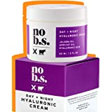 NO B. S. NO BAD STUFF Hyaluronic Cream For Face - Day + Night Potent & Clean Skin Care. No Hype. No Fads. Hyaluronic Acid, Jojoba Oil & Apricot Oil.