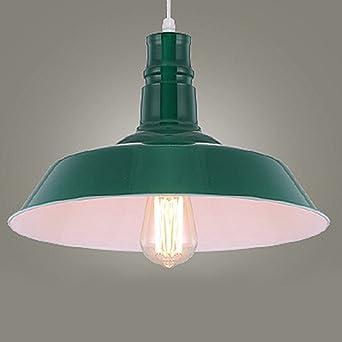 Rétro Eclairage Vert Suspensions Jour Bol Baycheer Style Abat En Lustre Decoratif Métal Lampe Industriel 4R53jqAL