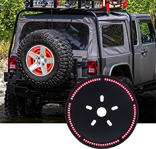 EKYAOMEI 3rd Brake Light Led Spare Tire Light12.5 Inch Wheel Lamp Ring For Jeep Wrangler - Ring Brake