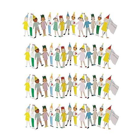 4 Tarjetas De Felicitación 3d De Mano Con Dibujos Animados
