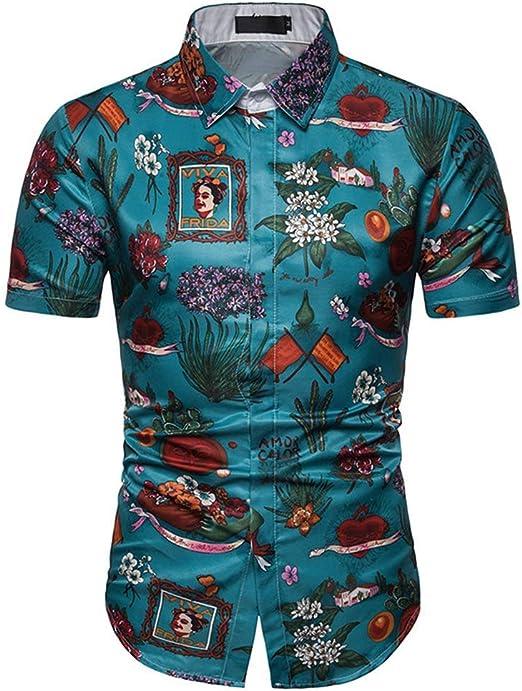 G.N Camisa de Hombre Camisa de Playa Camisa Hawaiana Camiseta de ...