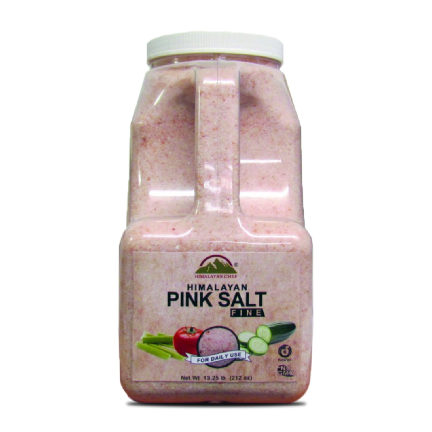 Himalayan Chef Natural Pink Salt Fine Plastic Jar,100% Pure Himalayan Salt - 13.25 LBS by Himalayan Chef