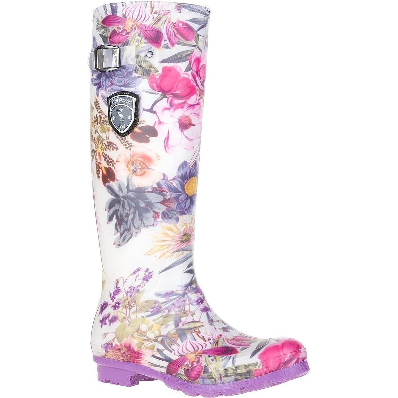 Kamik Women's Orchid Rain bootsand Travel Sunscreen (15 SPF) Spray Bundle
