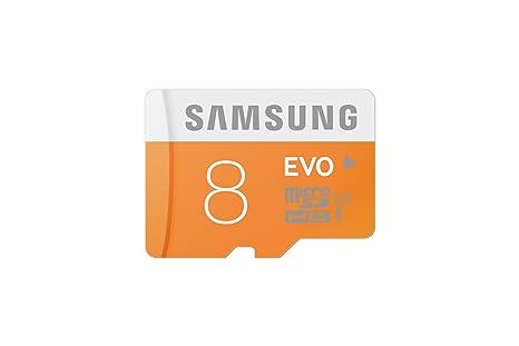 Samsung Evo MB-MP08D/EU - Tarjeta de memoria Micro SDHC de 8 GB (UHS-I, Grade 1, Clase 10)