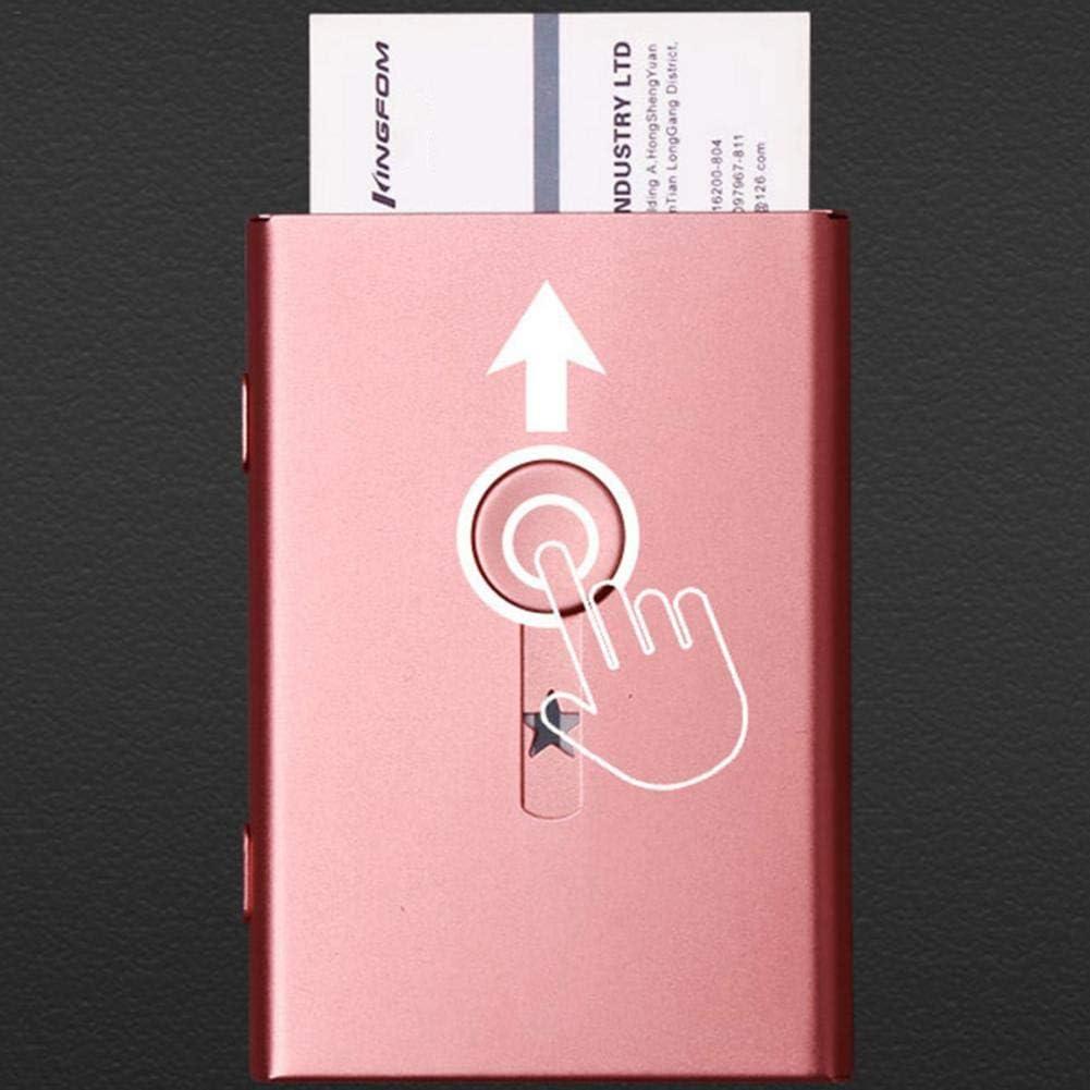 Type Carte de Visite Biggystar Bo/îte de Rangement pour Cartes de Visite Ultra-Mince